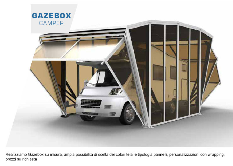 mercando it copertura camper senza permessi gazebox