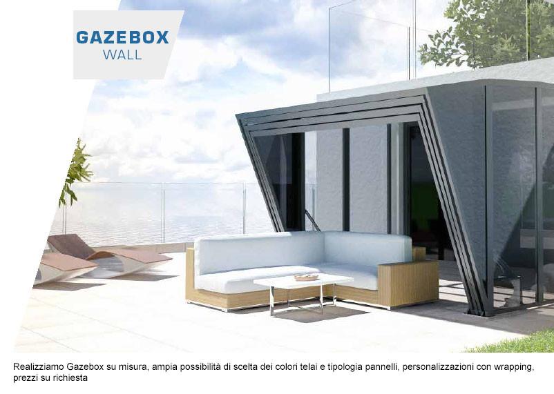 Mercando it veranda a muro senza permessi gazebox for Copertura auto richiudibile