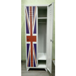 Armadio Spogliatoio a 2 Posti British Style