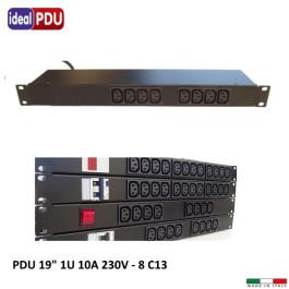 """PDU Multipresa Serie VDE 19"""" 1U - 10 A 230V - 8 C13"""