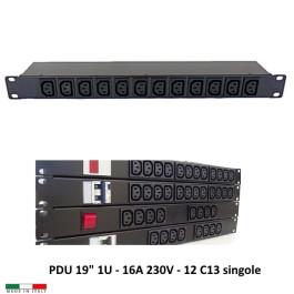 PDU Multipresa Serie VDE - 16A 230V - 12 C13 Comp AP9565