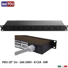 PDU Multipresa Serie VDE 19 - 8 prese IEC C19