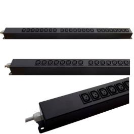 Multipresa rack VERTICALE, 32Amper, 24 prese IEC C13