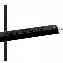 Multipresa rack, 16A 230V, 24 C13 + 6 C19, compatible APC