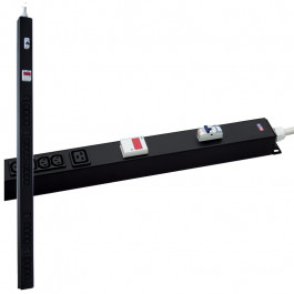 Multipresa rack verticale 16A, magnetotermico e amperometro