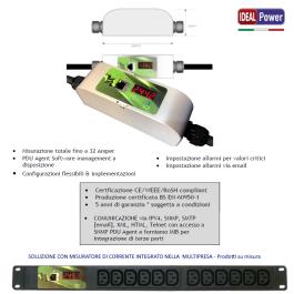 Misuratore corrente 16A monitoraggio remoto - IEC C20