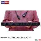 PDU Multipresa Serie VDE 19 - 8 C13 + 4 C19