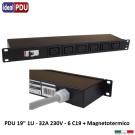 PDU Multipresa Serie VDE 19 - 6 prese C19 con magnetotermico