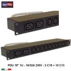 """PDU Multipresa  Serie VDE 19"""" - 16A 230V - 10 C13 + 2 C19"""
