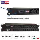 """PDU Multipresa Serie VDE 19"""" - 12 C13 + MTG - protection"""