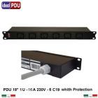 PDU Multipresa  Serie VDE 19 - 6 prese IEC C19