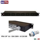 PDU Multipresa Serie VDE 19 - 6  prese C19 - 32 Amper