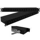 "Multipresa rack 19"", 1U, 32A 230V, 16 prese IEC C13."